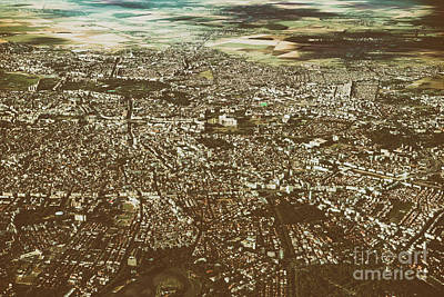 Bucharest Photograph - Aerial View Of Bucharest City In Romania by Radu Bercan