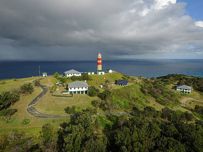 Photograph - Aerial View Of Cape Moreton Lighthouse Precinct by Keiran Lusk