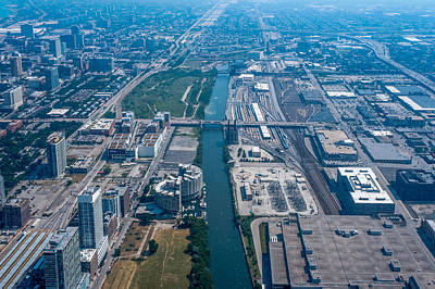 Aerial View Of Chicago City, Illinois Art Print