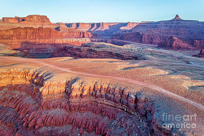 Photograph - aerial view of Colorado RIver canyon by Marek Uliasz