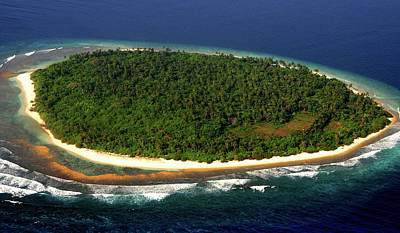 Photograph - Aerial View Of Deserted Maldivian Island by Jenny Rainbow
