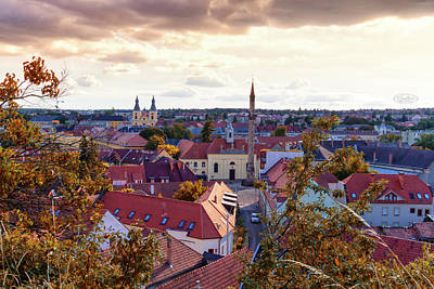 Photograph - Aerial View Of Eger City, Hungary by Elenarts - Elena Duvernay photo