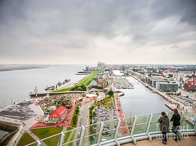 Skyline Photograph - Aerial View Of Famous Havenwelten In Bremerhaven by JR Photography