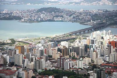 Aerial View Of Florianópolis Art Print by DircinhaSW