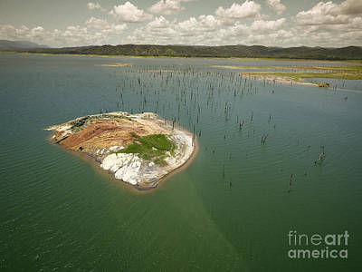 Panama Photograph - Aerial View Of Gatun Lake Panama Canal by Dani Prints and Images