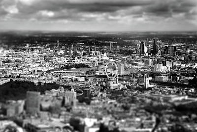 London Eye Photograph - Aerial View Of London 6 by Mark Rogan