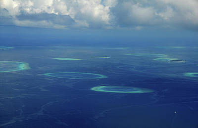 Photograph - Aerial View Of Maldivian Coral Formations by Jenny Rainbow
