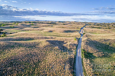 Photograph - aerial view of Nebraska Sandhills  by Marek Uliasz