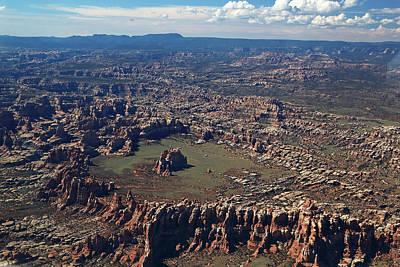 Photograph - Aerial View Of Needles In Canyonlands National Park by Jean Clark