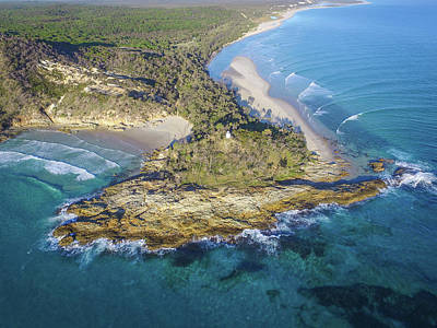 Aerial View Of North Point, Moreton Island Art Print
