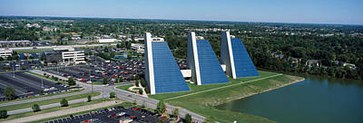 Indiana Scenes Photograph - Aerial View Of Office Buildings by Panoramic Images