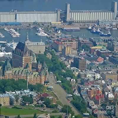 Aerial View Of Old Quebec City Original