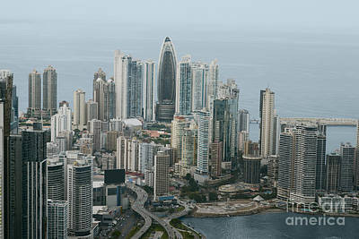 Beach Photograph - Aerial View Of Panama City by Dani Prints and Images