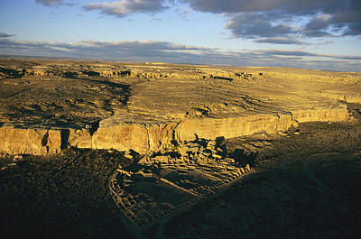 Chaco Canyon Photograph - Aerial View Of Pueblo Bonito In Chaco by Ira Block