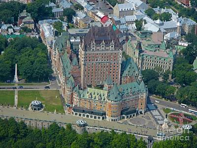 Aerial View Of Quebec Chateau Frontenac Original by John Malone