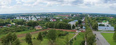 Achieving - Aerial View of Suzdal City from Belltower of Alexander Monastery by Rostislav Ageev