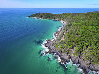 Photograph - Aerial View Of The Coastline In Noosa National Park by Keiran Lusk