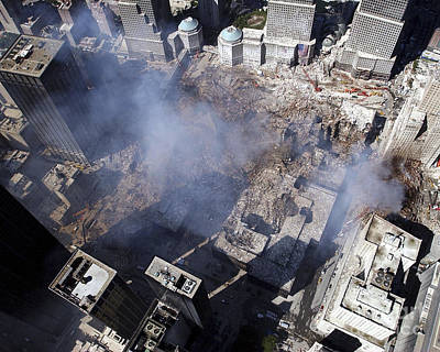 Terrorism Photograph - Aerial View Of The Destruction Where by Stocktrek Images