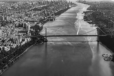 Aerials Photograph - Aerial View Of The Gw Bridge by Susan Candelario