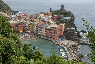 Photograph - Aerial View Of Vernazza by Julian Popov