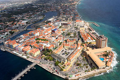 Photograph - Aerial View Of Willemstad, Curacao by For Ninety One Days