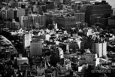 Greenwich Village Photograph - aerial view over west village greenwich village  towards hudson square soho districts New York  by Joe Fox