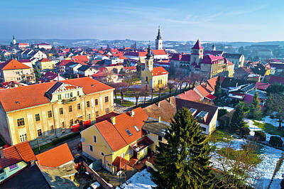 Photograph - Aerial Winter View Of Krizevci by Brch Photography