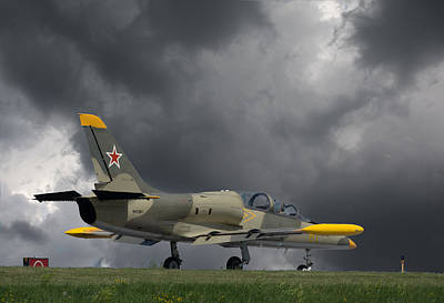 Photograph - Aero L-39 Albatros On Taxiway by Guy Whiteley