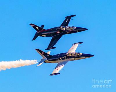 Photograph - Aero L-39c Albatros Jet Trainers by Nick Zelinsky
