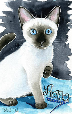 Painting - Aero - Siamese Seal Point Kitten Painting by Dora Hathazi Mendes