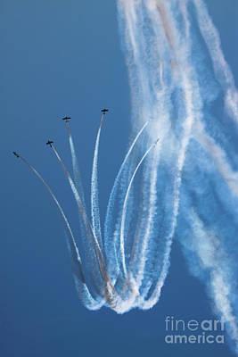 Photograph - Aerobatics Display by Angel Ciesniarska