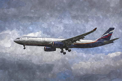 Photograph - Aeroflot Airbus A330 Art by David Pyatt