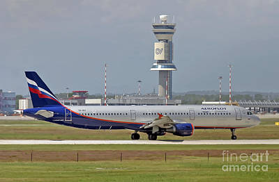 Print featuring the photograph Aeroflot - Russian Airlines Airbus A321-211 - Vq-bei by Amos Dor
