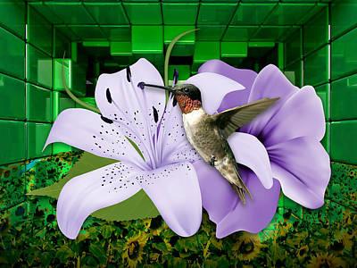 Mixed Media - Aeronautics Humming Bird by Marvin Blaine