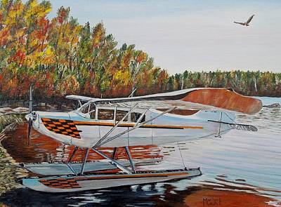 Art Print featuring the painting Aeronca Super Chief 0290 by Marilyn  McNish