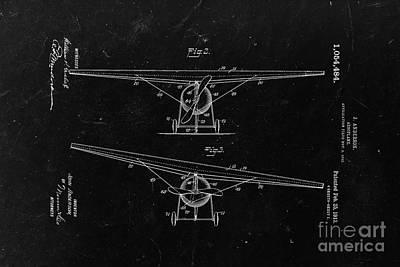 Sketch Art Digital Art - Aeroplane 1913 - Black by Delphimages Photo Creations