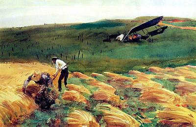 Aeroplane - Crashed Art Print by John Singer Sargent