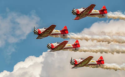 Photograph - Aeroshell Aerobatic Team by Jorge Perez - BlueBeardImagery