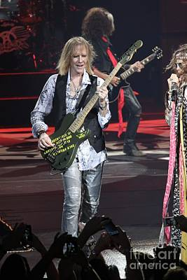 Photograph - Aerosmith Bassist Tom Hamilton by Concert Photos