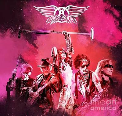 Aerosmith Mixed Media - Aerosmith by Damiano Corona