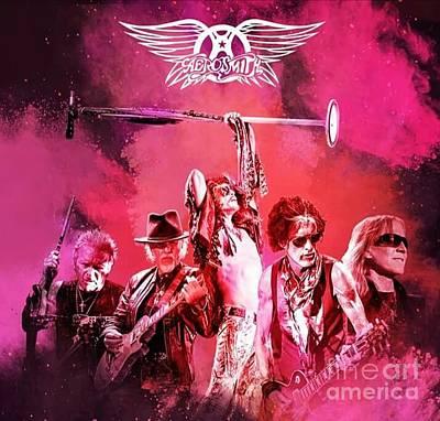 Aerosmith Mixed Media - Aerosmith by Damiano Corona