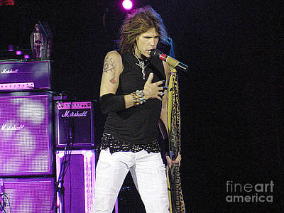 Steven Tyler Photograph - Aerosmith-steven Tyler-00184 by Gary Gingrich Galleries