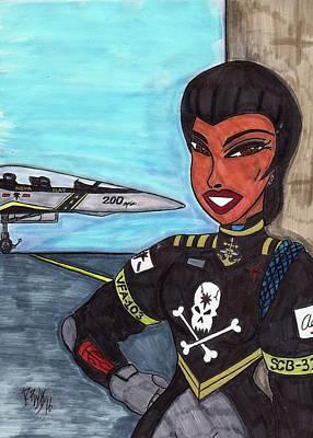 Science Fiction Mixed Media - Aerospace Captain Fuchida by Ronald Woods