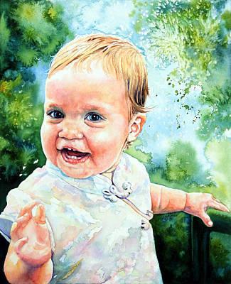 Of Toddlers Painting - Aeryn Portrait by Hanne Lore Koehler