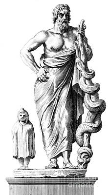 Aesculapius, Greek God Of Medicine Art Print by Science Source