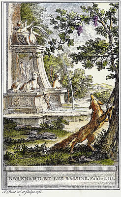 Aesop: Fox & Grapes, 1761 Art Print by Granger