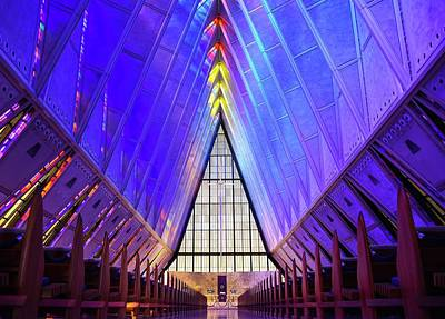 Photograph - A F A Cadet Chapel Interior by Rand