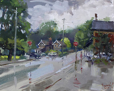 Rainy Day Painting - Afetr Rain At Glen Williams On by Ylli Haruni