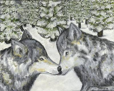 Painting - Affection In The Wild by Tanna Lee M Wells