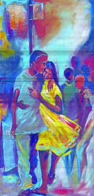 Obama Mixed Media - Affection by Michael Echekoba